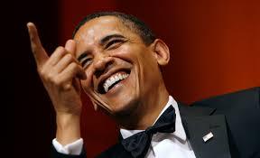CFR_Obama Laughing Pointing