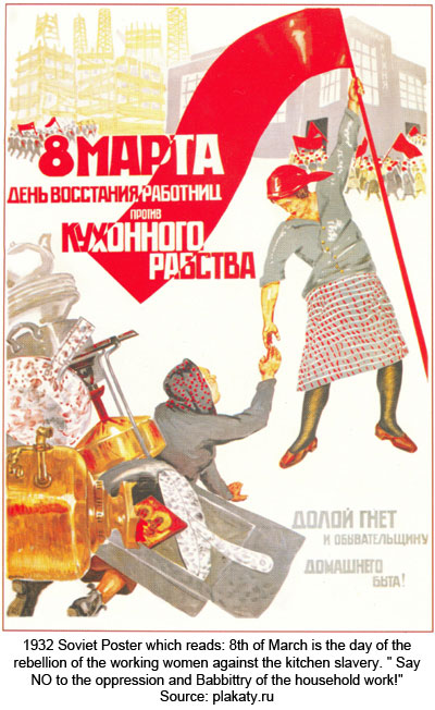 FAMILY_ Soviet Womens March Poster March 8
